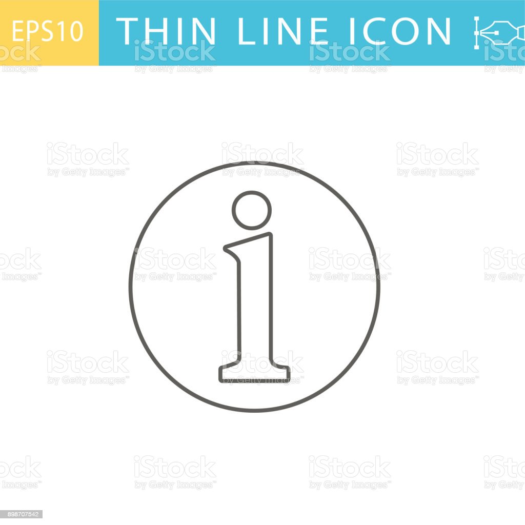 Thin Line Icons -  Customer Service and Information vector art illustration