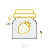 Thin line icons, Jam