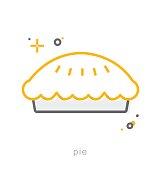 Thin line icons, Pie