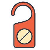 istock Thin Line Travel Icon Set Do Not Disturb 1024863658