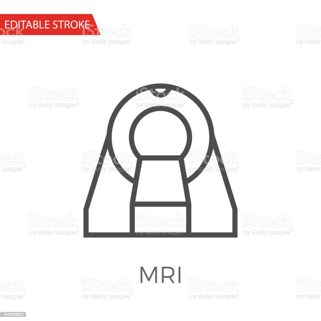 MRI Thin Line Vector Icon. vector art illustration