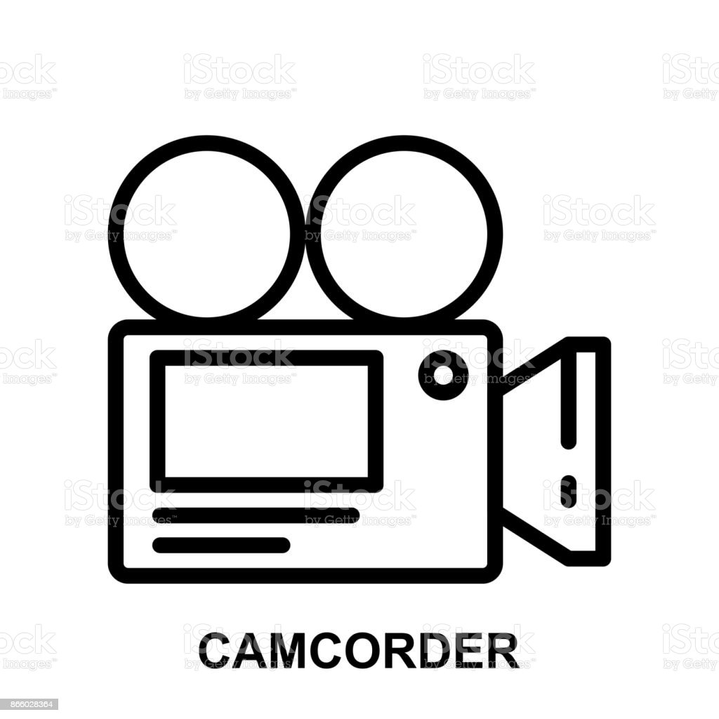 camcorder thin line vector icon - illustration