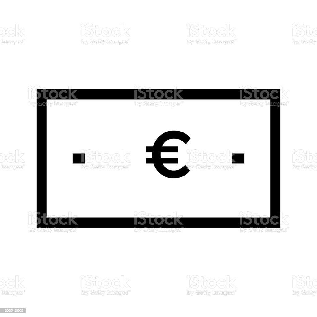 EURO monnaie fine ligne Vector Icon - Illustration vectorielle