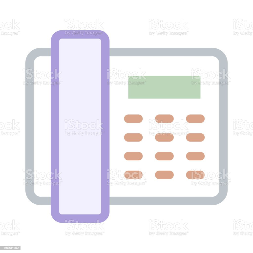 TELEPHONE thin line vector icon