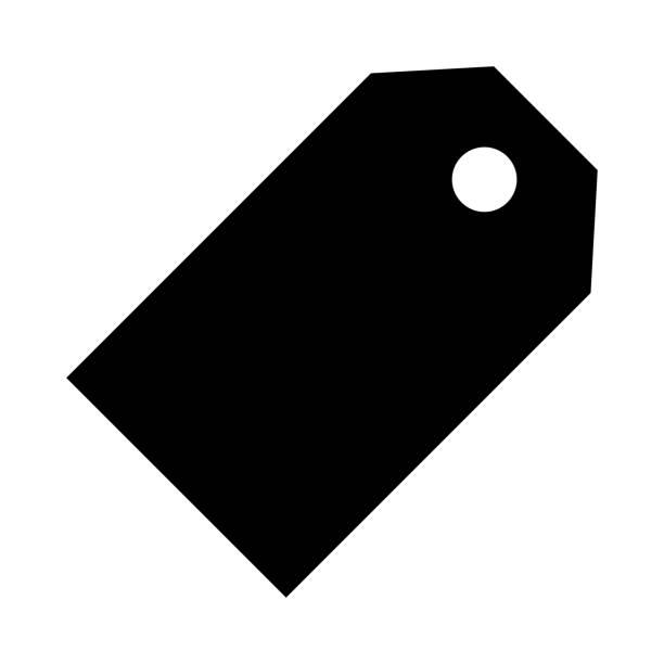tag thin line vector icon - przywieszka z ceną stock illustrations