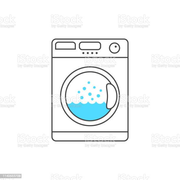 Thin line washing machine with blue bubble vector id1140553709?b=1&k=6&m=1140553709&s=612x612&h=aut7wp3tz06avvotdaxrtvakmnjlcnplqaf4v6smfbk=