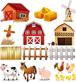 Things and animals found at the farm