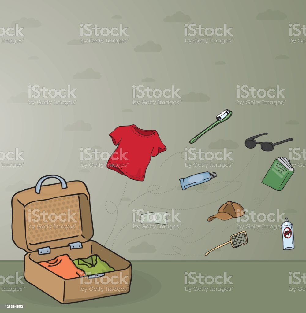 Things for vacation vector art illustration