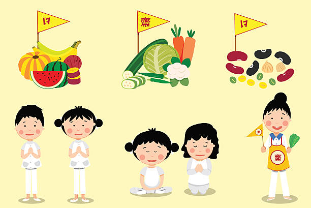 Things to do in Vegetarian festival – Vektorgrafik
