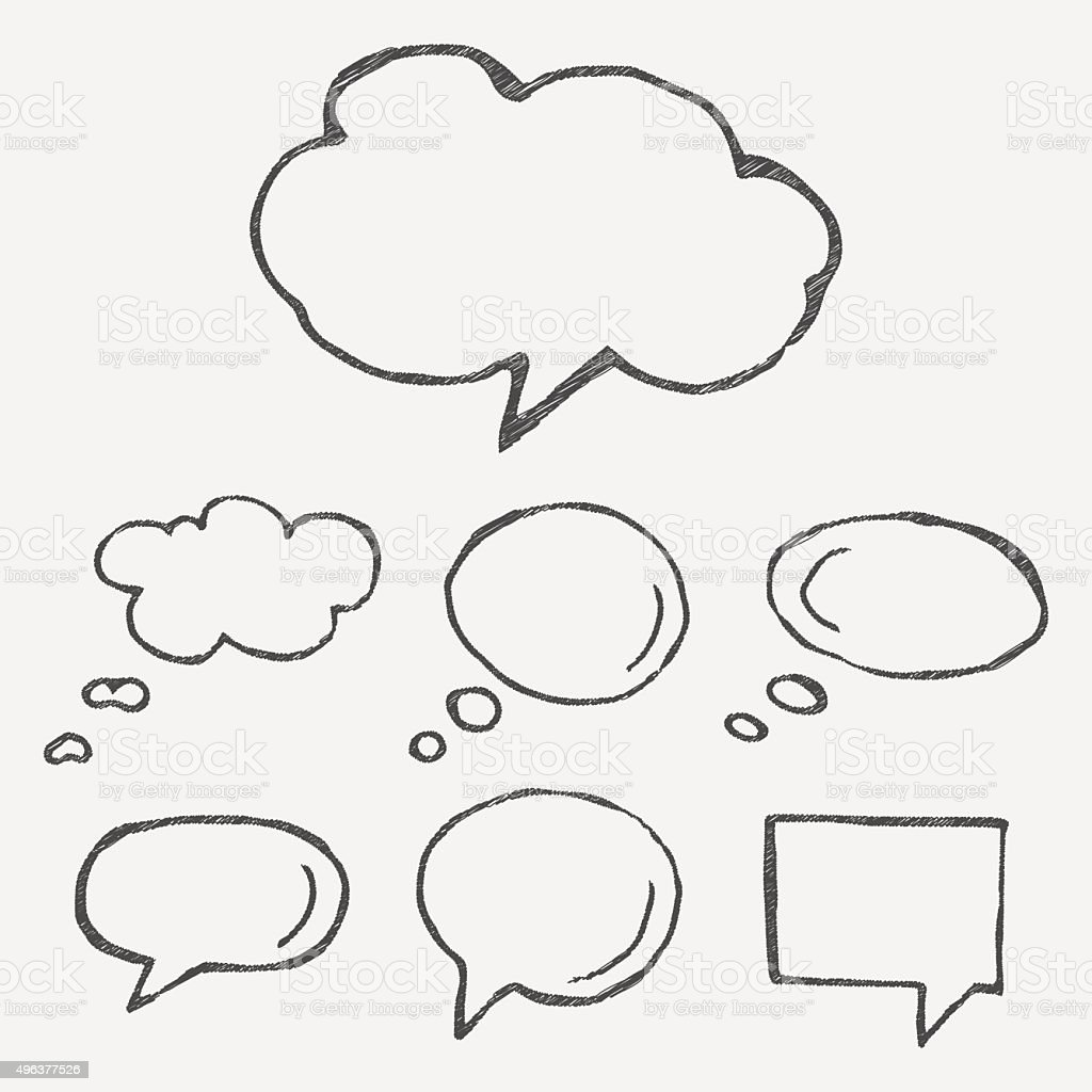Think cloud symbols vector art illustration