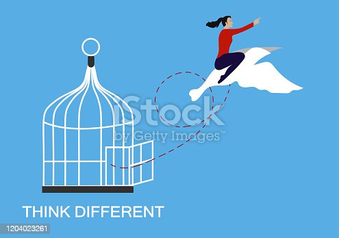 Think different and freedom concept.