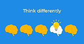 istock Think different infographic concept trend initiative people. Entrepreneur crowd 1321544963