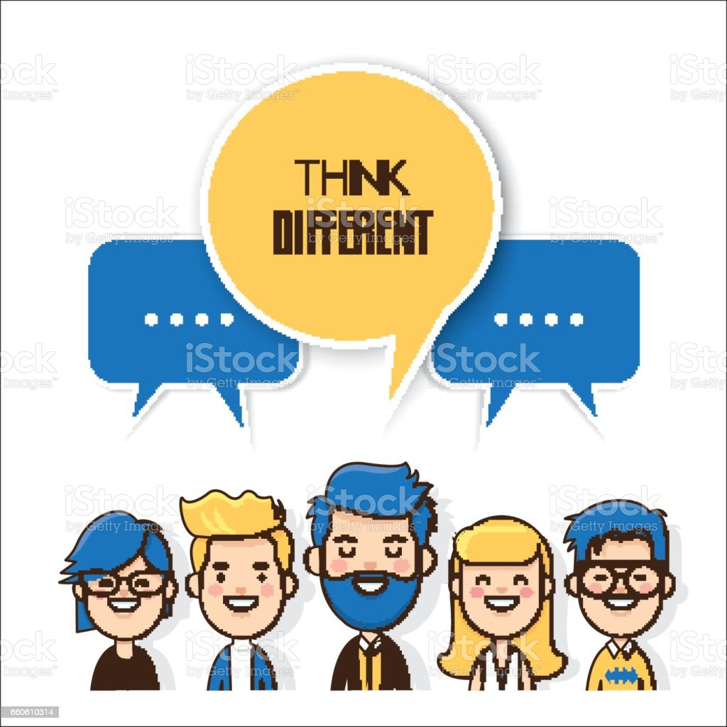 Think different royalty-free think different stock vector art & more images of adult