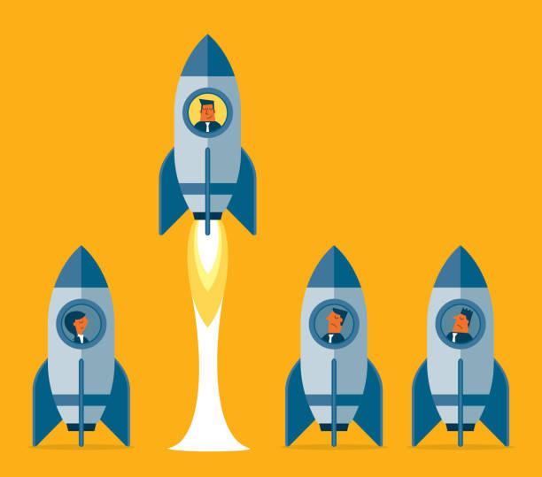 ilustrações, clipart, desenhos animados e ícones de pensar de forma diferente - empresário - entrepreneurship