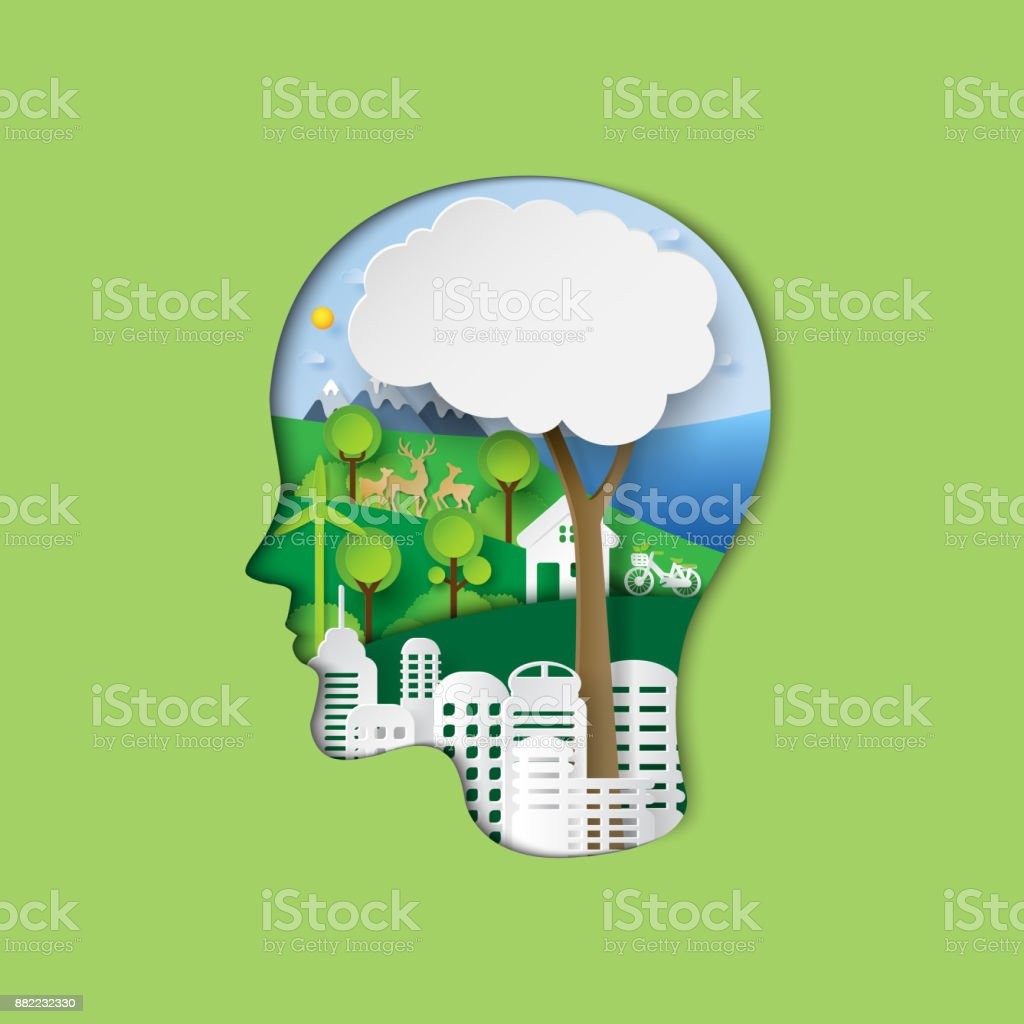think green eco concept stock vector art more images of. Black Bedroom Furniture Sets. Home Design Ideas