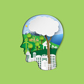 Think green eco concept