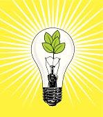 Think Green - Light Bulb