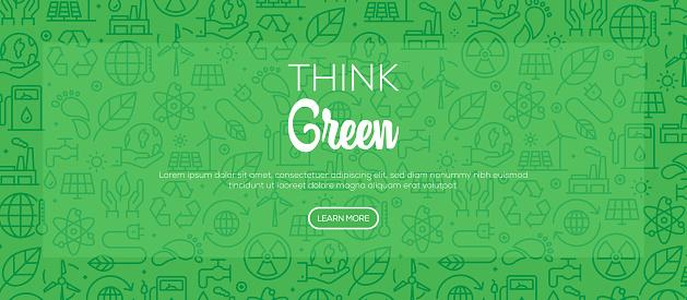 Think Green Pattern Design