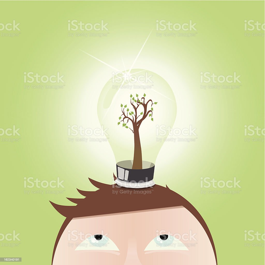 Think green  royalty-free think green stock vector art & more images of activity