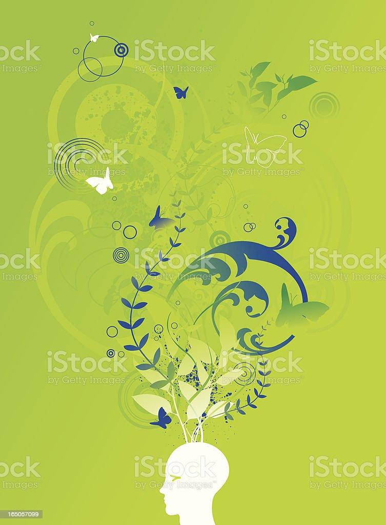 Pense na Zona Verde - ilustração de arte em vetor