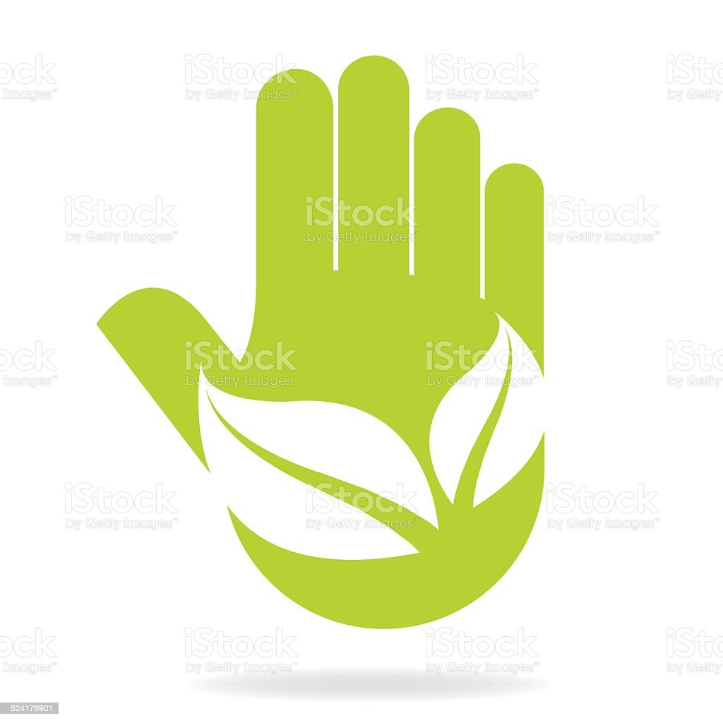 think green vector art illustration