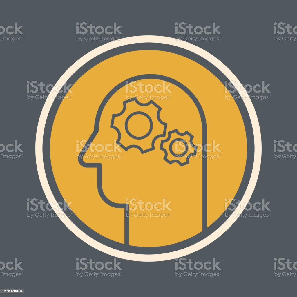 Pensez icône pensez icône – cliparts vectoriels et plus d'images de adulte libre de droits