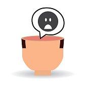 Think negative design, postive and idea concept