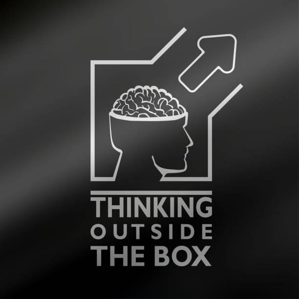 Denken Sie außerhalb der Box-kreativ-Konzept. – Vektorgrafik
