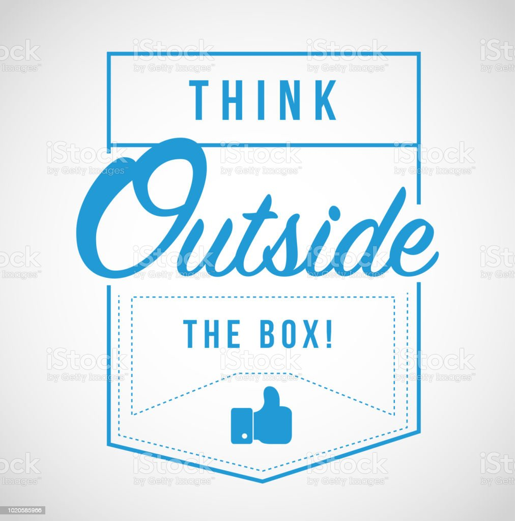Think Outside The Box Modern Stamp Message Royalty Free