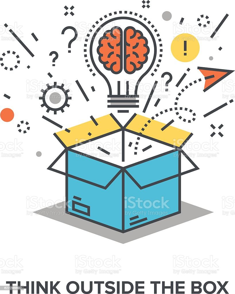 think outside the box royalty-free think outside the box stock illustration - download image now