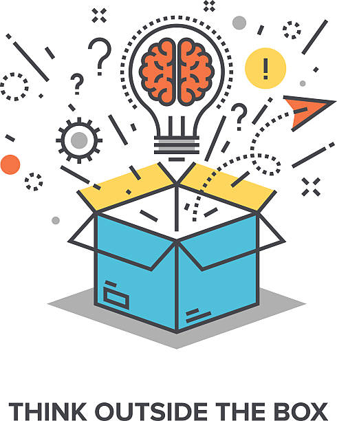 think outside the box - science class stock illustrations, clip art, cartoons, & icons