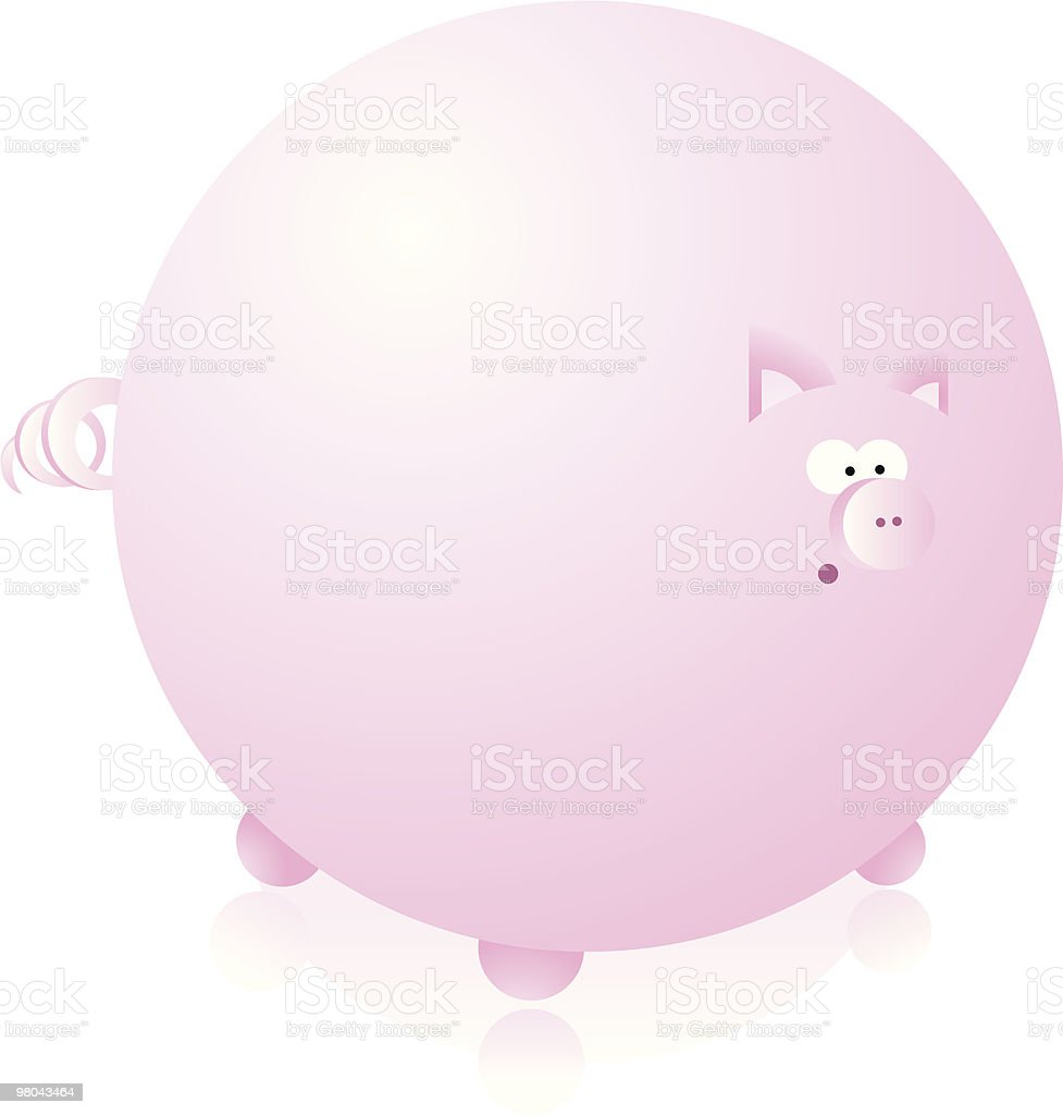 Think pink, big pig! royalty-free think pink big pig stock vector art & more images of animal