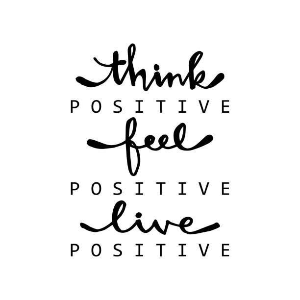Think positive, feel positive, live positive. For fashion shirts, poster, gift, or other printing press. Motivation quote. Think positive, feel positive, live positive. For fashion shirts, poster, gift, or other printing press. Motivation quote. inspirational quotes stock illustrations