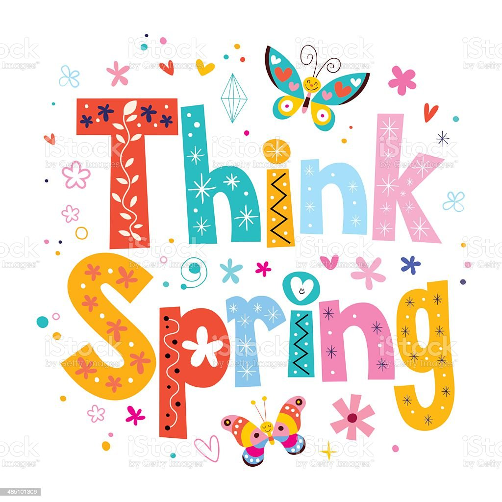 think spring stock vector art more images of 2015 485101306 istock rh istockphoto com free clipart spring flowers free spring banner clipart
