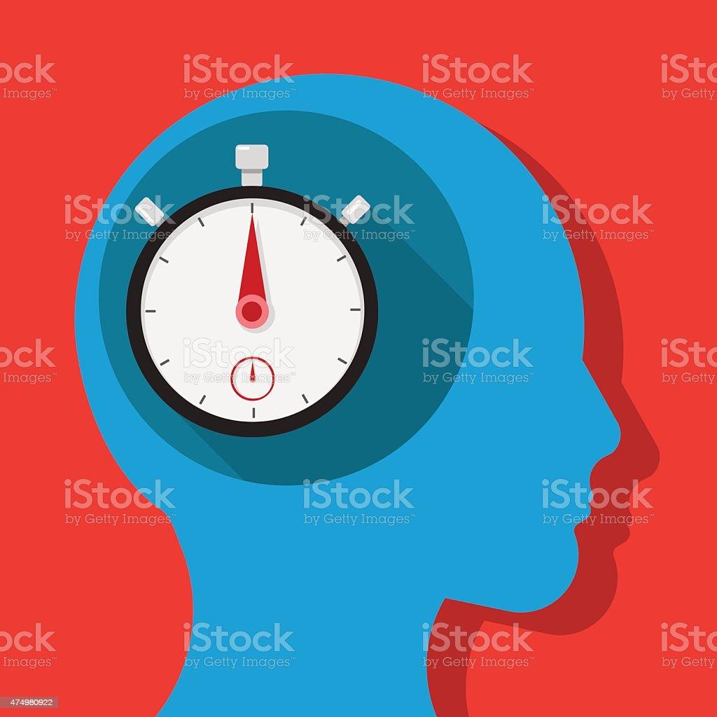 Think time vector art illustration