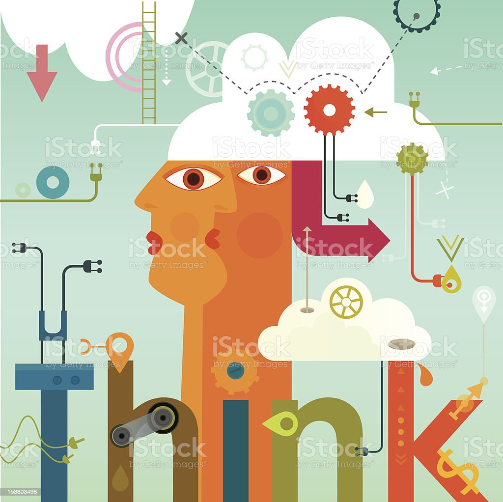 Think royalty-free think stock vector art & more images of abstract
