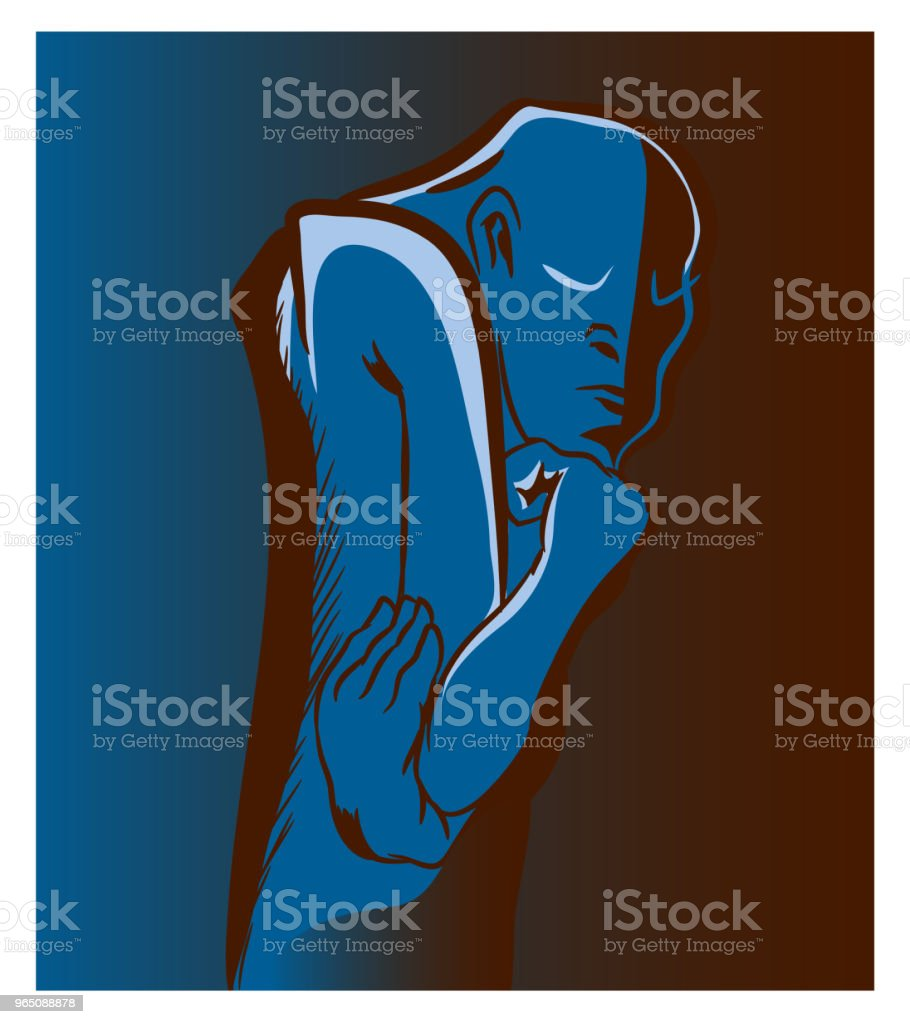 Thinker man. thinker man - stockowe grafiki wektorowe i więcej obrazów abstrakcja royalty-free