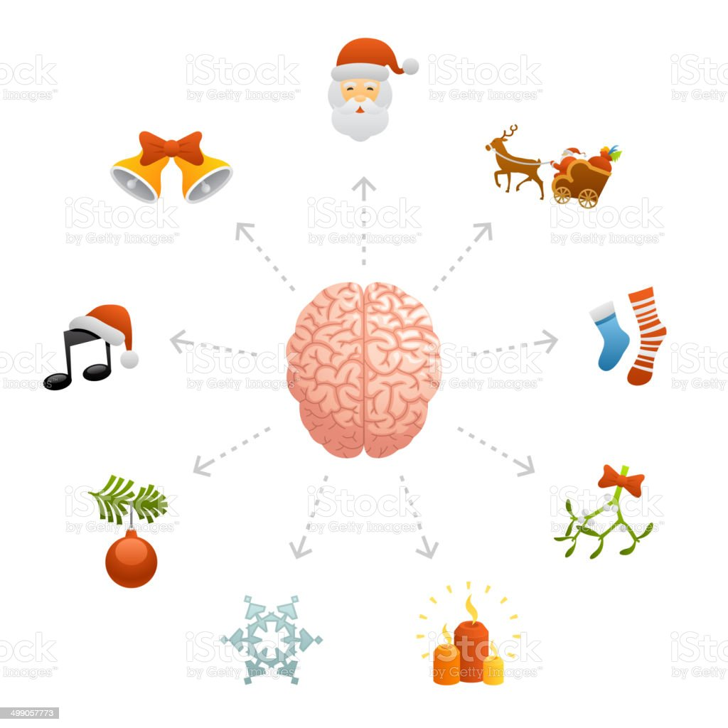 Thinking About Christmas royalty-free thinking about christmas stock vector art & more images of anatomy