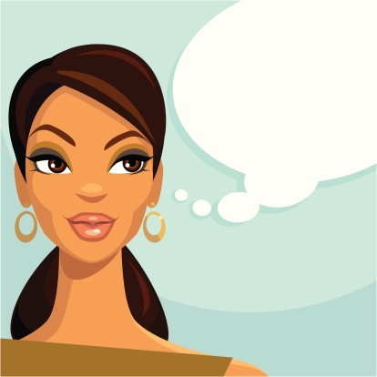 Thinking Beauty (African American) clipart