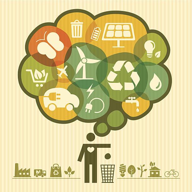 bildbanksillustrationer, clip art samt tecknat material och ikoner med thinking green - recycling heart