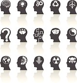 Thinking Heads Icons on a white background