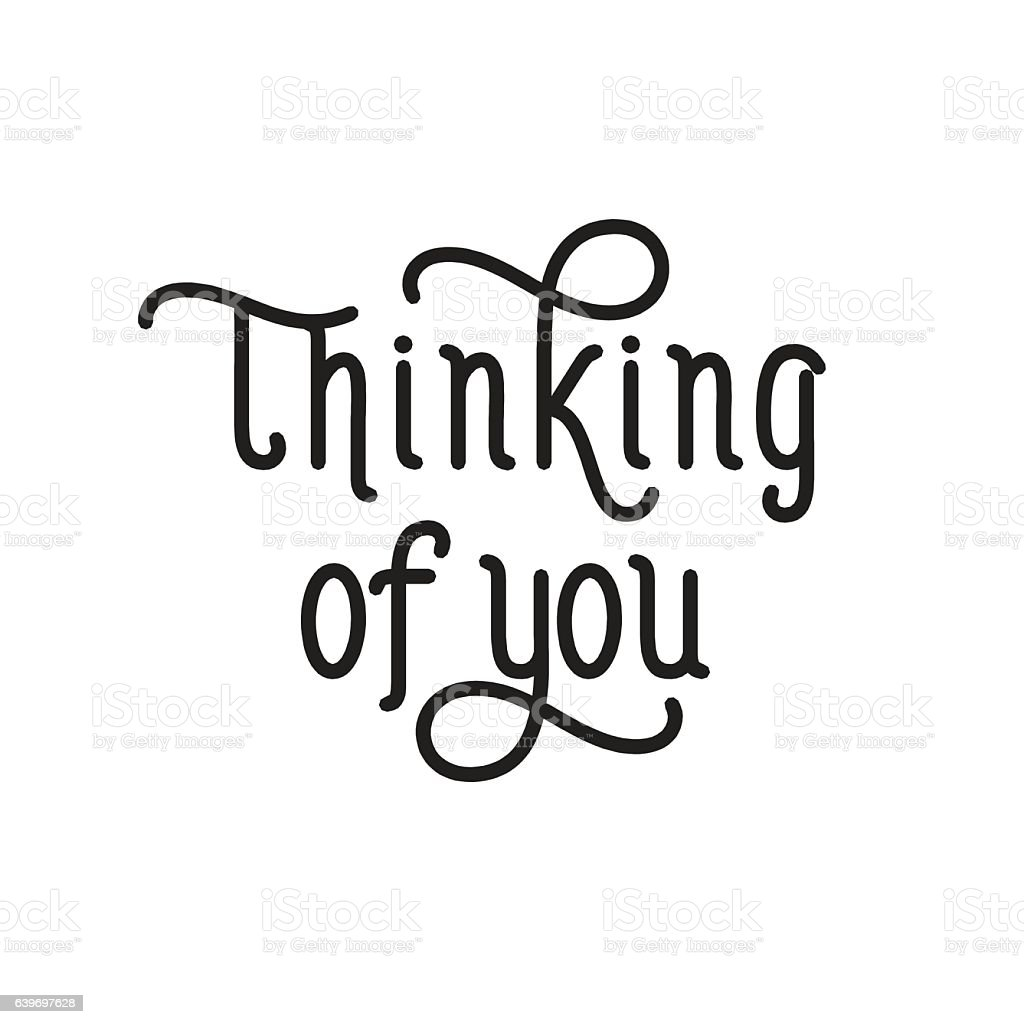 thinking of you creative lettering アイデアのベクターアート素材や