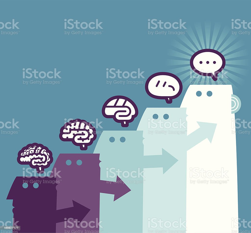 Thinking process royalty-free stock vector art