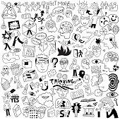 Asking,Ideas,Doodle,People,Mental Health,Medicine