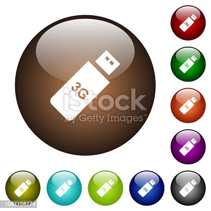istock Third generation mobile stick color glass buttons 1087158774