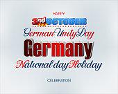 Third of October, German National holiday
