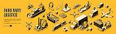 istock Third party logistics, 3pl, cargo export, import 1207499663