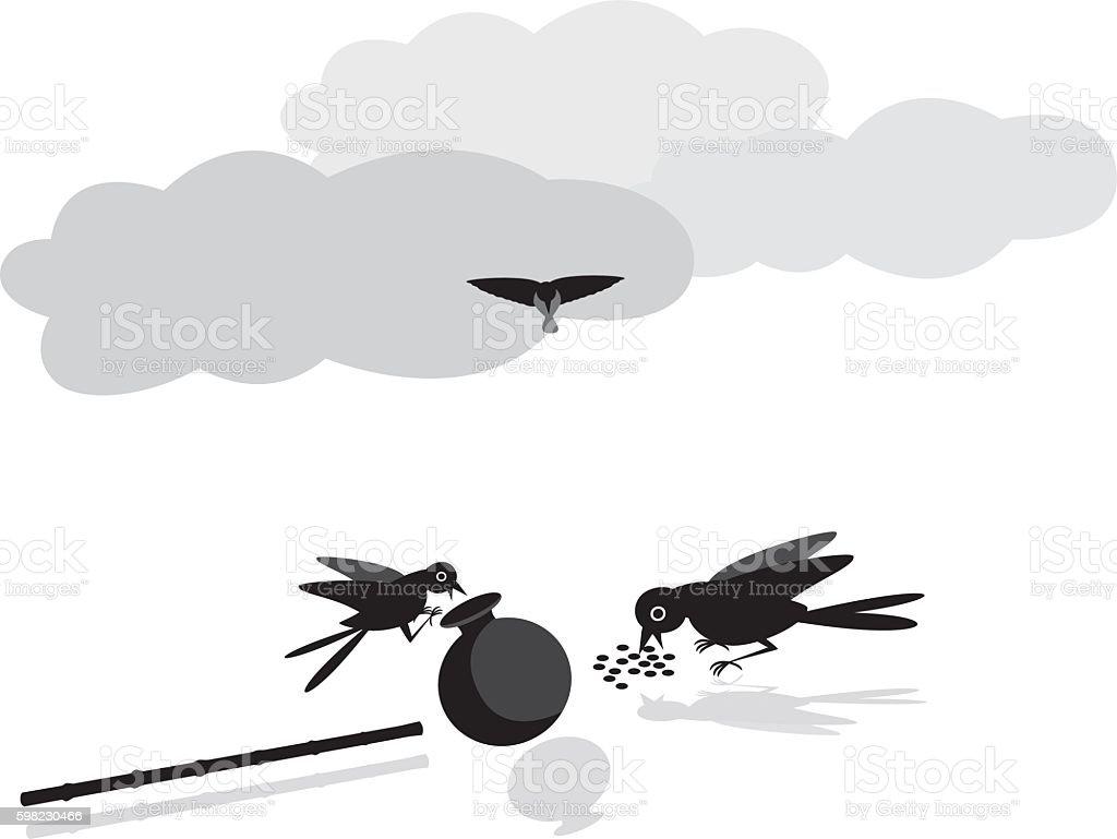 Sede de pássaros ilustração de sede de pássaros e mais banco de imagens de arremessar royalty-free