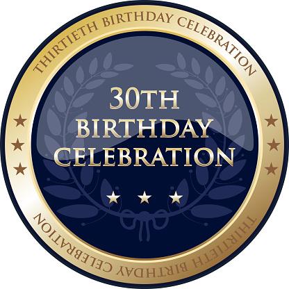 Thirtieth Birthday Celebration Gold Award