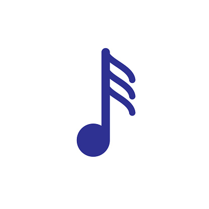thirty second musical note line icon. Signs and symbols can be used for web, logo, mobile app, UI, UX